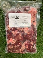 Dog & Bones - Beef Heart Chunks - 1KG